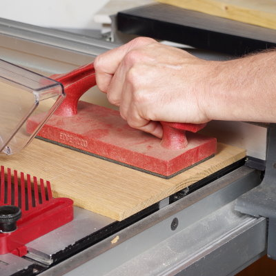 Use a Push Block on 6-Inch to 12-Inch Wide Stock