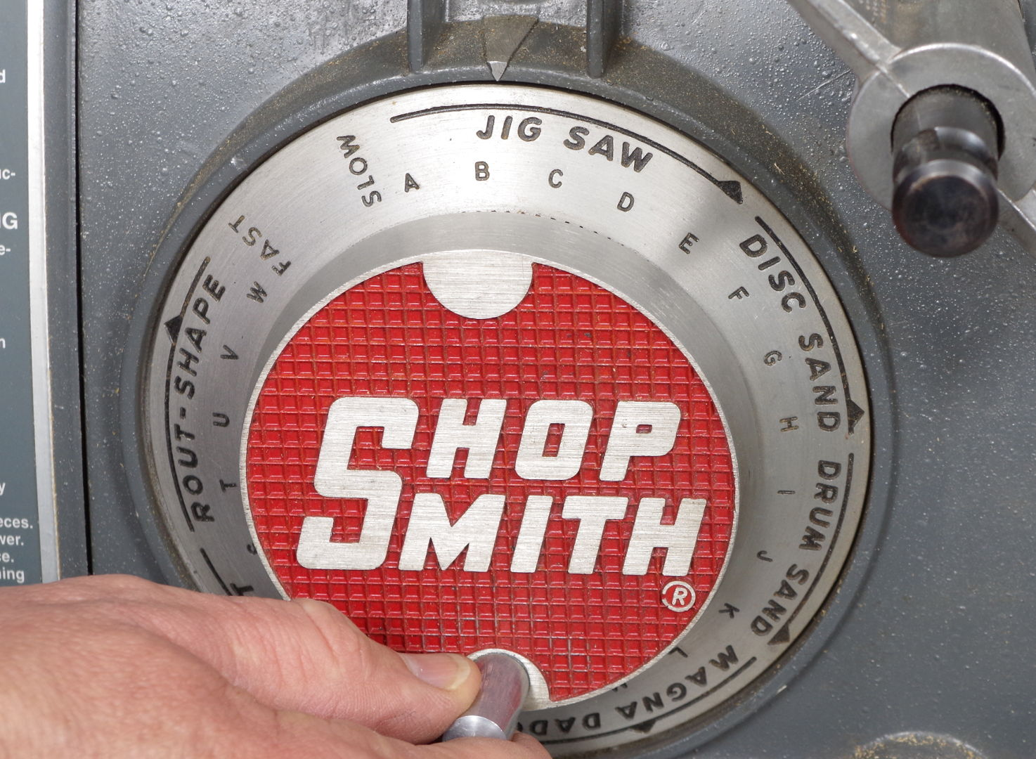 Setting Speed Dial To Slow Without Turning On The Headstock Shopsmith Mark V Wiring Diagram
