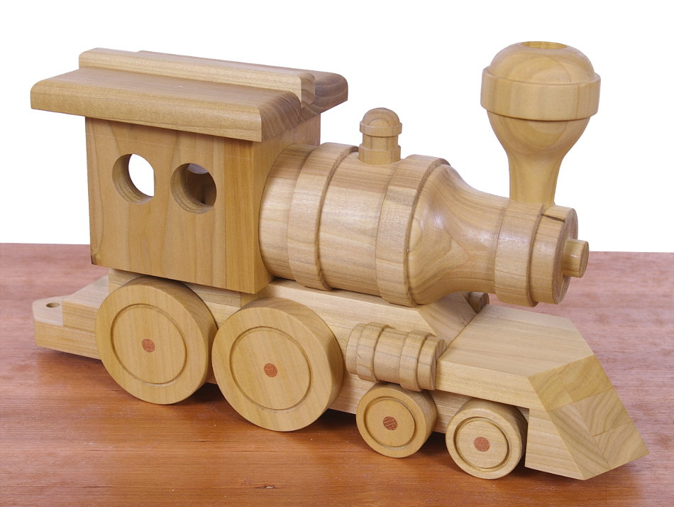 Wood Car Weekend : Toy train locomotive built with the mark s seven functions