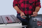 Disc Sander to Horizontal Boring Machine - 17 seconds