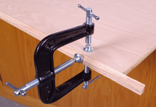 3-Way Clamps Help You Attach Veneer Tapes and Decorative Edging To Shelves, Cabinets
