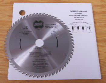 555960 60 tooth carbide-tipped cross-cut blade