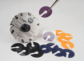 Slip Shims Into Position Without Removing Blades or Chippers