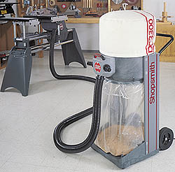 Enjoy Virtually Dust-Free Woodworking with Shopsmith's DC3300 Dust Collector