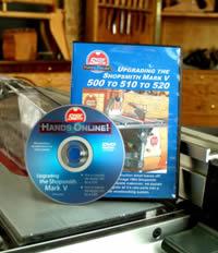 Upgrading The Shopsmith MARK V 500 To 510 To 520 DVD