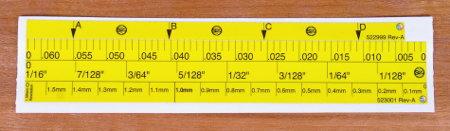Durable, Self-Adhesive, Laminated Stop Collar Scales