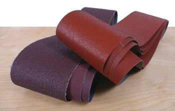 Open-Coat Aluminum-Oxide Belts Cut Fast and are Resistant To Clogging