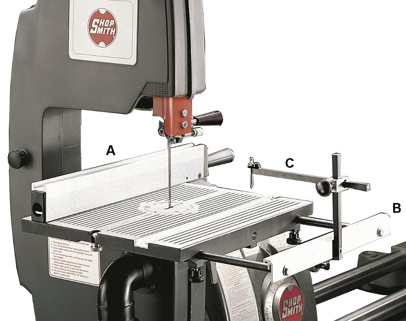Shopsmith bandsaw circle cutter get the complete bandsaw accessory package and save keyboard keysfo Images