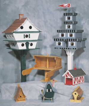 Plans For 4 Bird Houses and 3 Bird Feeders
