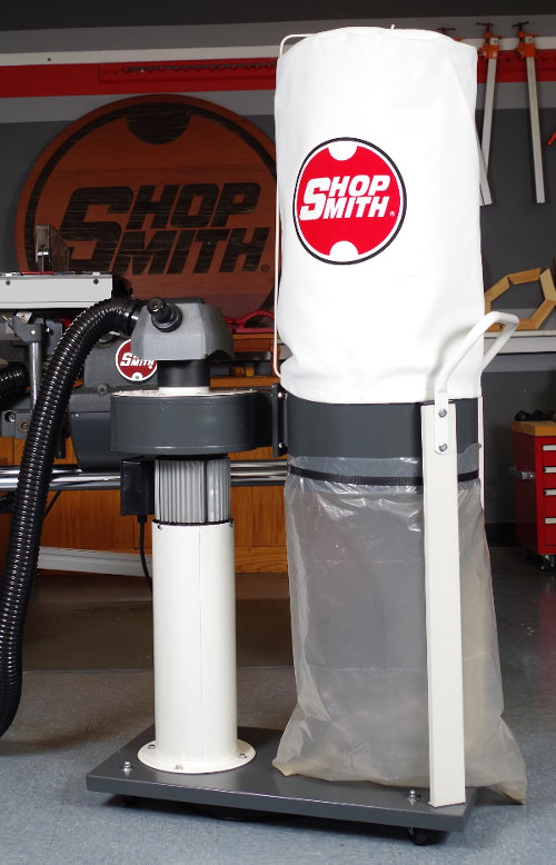 Enjoy Virtually Dust-Free Woodworking with the Shopsmith DC-330L Dust Collector