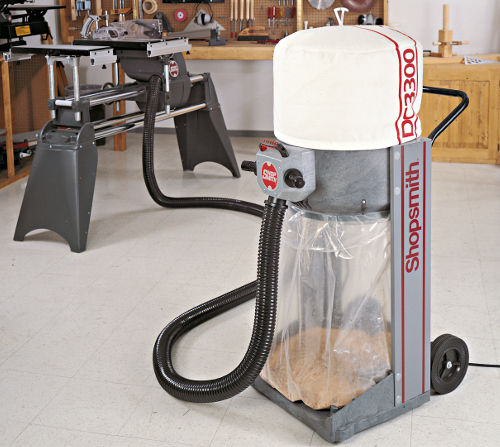 Enjoy Virtually Dust-Free Woodworking with the Shopsmith DC-3300 Dust Collector
