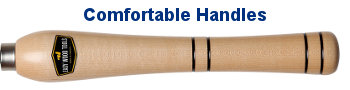 Comfortable Handles With Unique Trademarked Shape With Multiple Gripping Locations To Minimize Fatigue