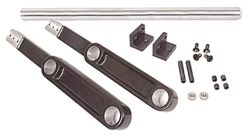 Includes: Two Aluminum Bracket Castings, One Connector Tube and Hardware