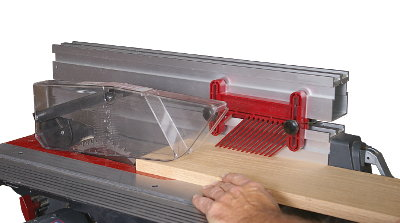 Studs between stacked extensions are the precise length to accept locking featherboards