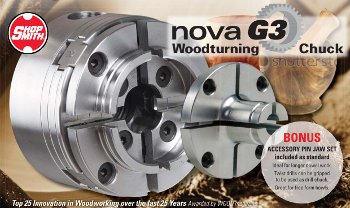 Nova Lathe Chuck Gives You a Solid Grip on Many Types of Lathe Projects