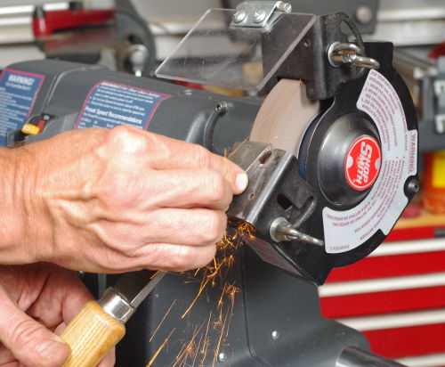 Keep Your Edged Tools Super-Sharp with the Shopsmith Grinding Wheel Guard