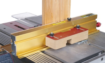 Shopsmith version has been designed with a special GlideLOCK™ adjustable miter bar that fits all MarkV & Mark7 Shopsmith machines