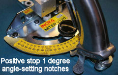 Enjoy dead-on miter gauge accuracy to within 1°, the first time, every time