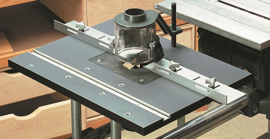 Shopsmith mark v router table full featured router table maximizes your shop space greentooth Gallery