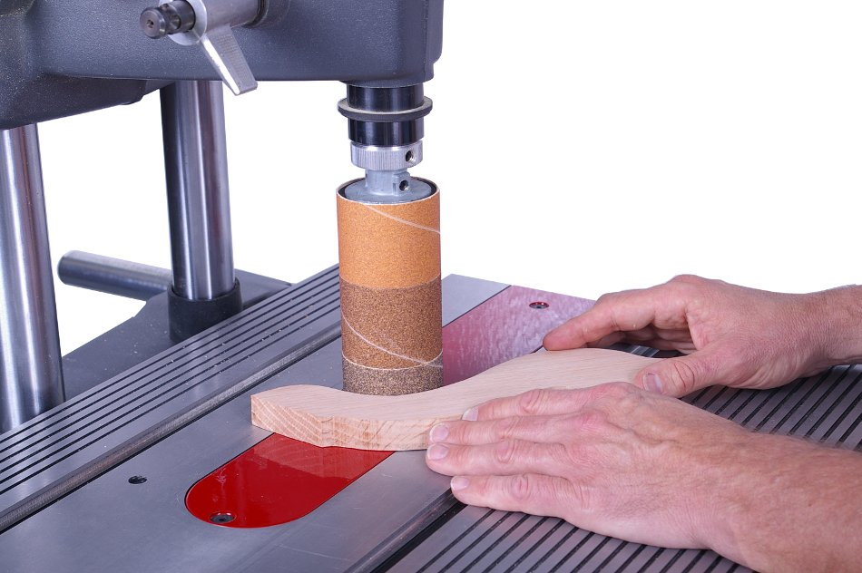 drum sander for drill. first a coarse sleeve to remove the majority of machining marks drum sander for drill