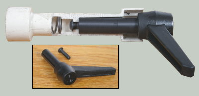 The Steel Handle Shaft Features an Especially Cut Keyway That Slips Over a Spline On the Inside Surface of Your Coupler