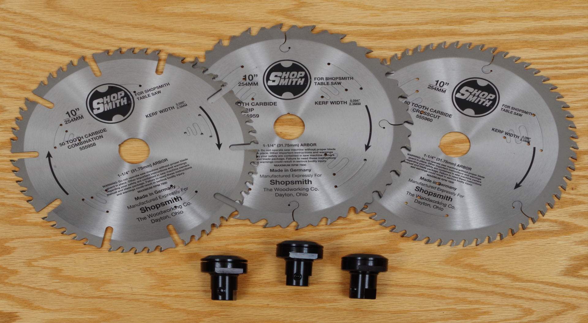 10 Inch Carbide Tipped Thin Kerf Saw Blade Packages