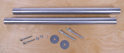 Includes: Two 26-inch Way Tubes • Mounting Hardware and • Plans For Building a Wooden Base
