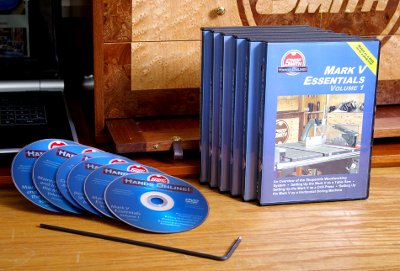 Every Shopsmith Mark V Owner Should Have These Information-Packed Nick Engler DVD Reference Videos In Their Home Shop