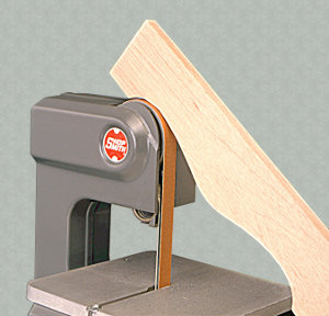 Exposed Upper Tracking Wheel for Sanding External Curves
