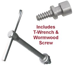 Includes T-Bar Wrench and Wormwood Screw