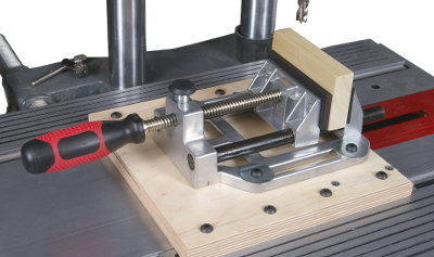 Sliding Base Let You Move and Lock Vise in Position Wherever You Want It