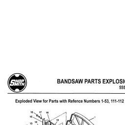 Shopsmith Band Saw Exploded Parts Diagram