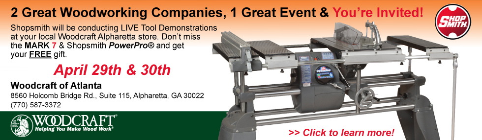 2 Great Woodworking Companies, 1 Great Event and You're Invited